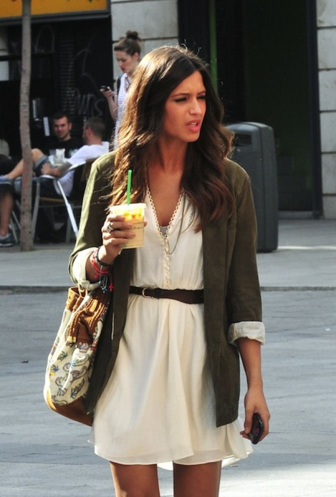 17 Best Images About Sara Carbonero On Pinterest High Boots Cute White Dress And Green Jacket