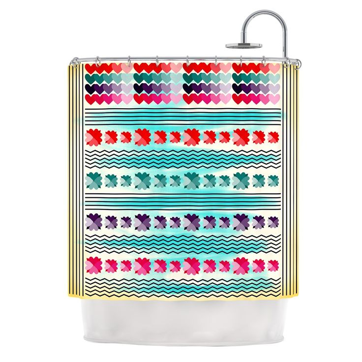 Love Pattern By Famenxt Shower Curtain Products