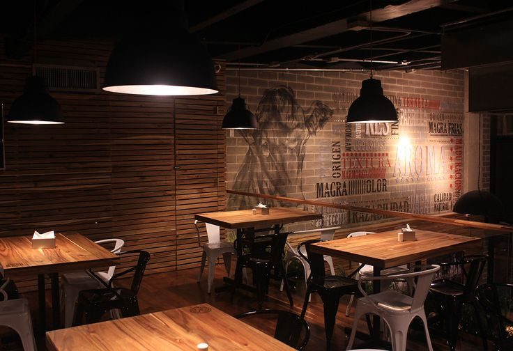 Más Finca on Behance #Design #Lamps #lightingdesign #Restaurant #SteakHouse #Angus&Brangus #Medellin #Colombia