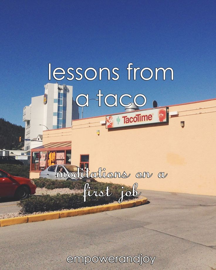 empower and joy: lessons from a taco