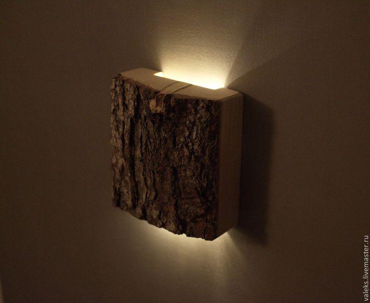 """Купить Светильник светодиодный настенный """"Квадро"""" 3 Вт - светильник из дерева, деревянные заготовки"""
