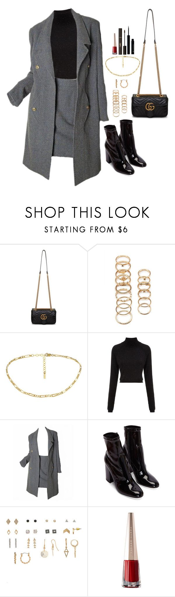 """""""Give us a wink and make me think of you"""" by elo379 ❤ liked on Polyvore featuring Gucci, Forever 21, Whistles, Karl Lagerfeld and Yves Saint Laurent"""