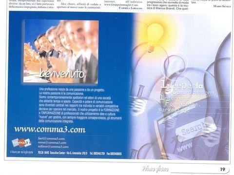 Pagina pubblicitaria su mensile Primo Piano