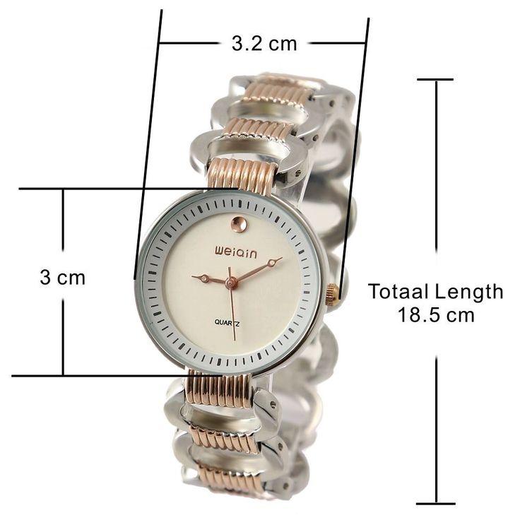 FW877A rotonda PNP Shiny Silver cassa dell'orologio quadrante bianco delle donne delle signore vigilanza del braccialetto