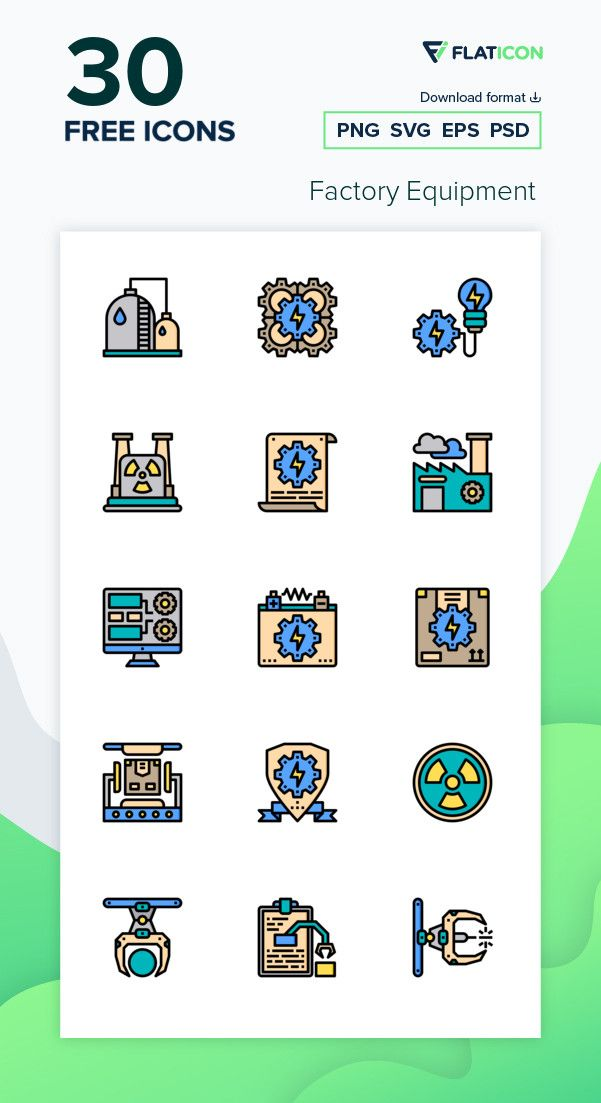30 Free Vector Icons Of Factory Equipment Designed By Phatplus Free Icon Packs Vector Free Vector Icons