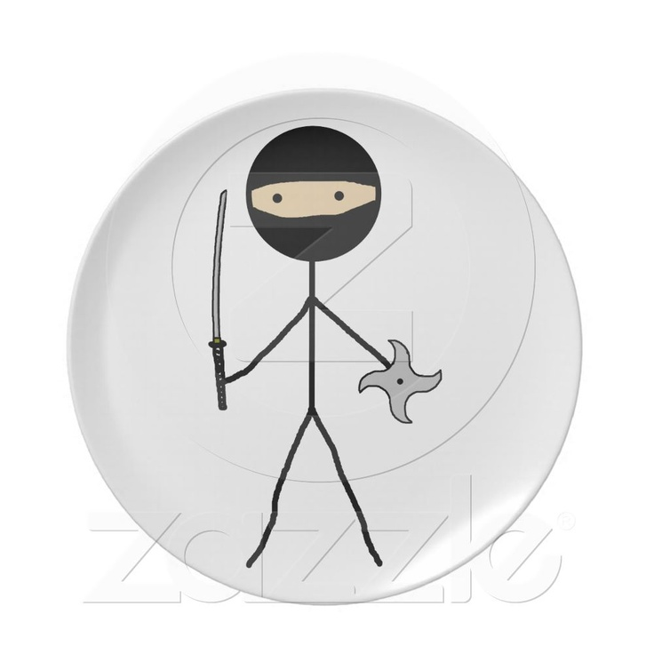 Stick Ninja Party Plates from Zazzle.com