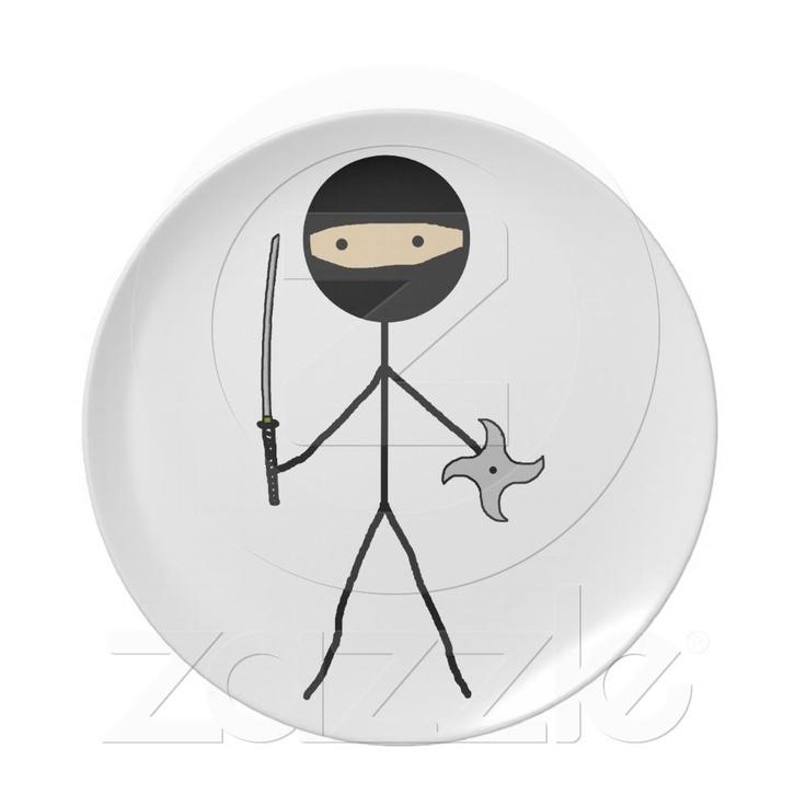 Stick Ninja Party Plates from Zazzle.com