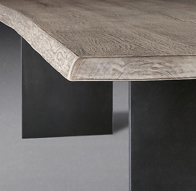 Reclaimed Russian Oak Live Edge Rectangular Dining Table In 2020 Rectangular Dining Table Live Edge Dining Table Dining Table