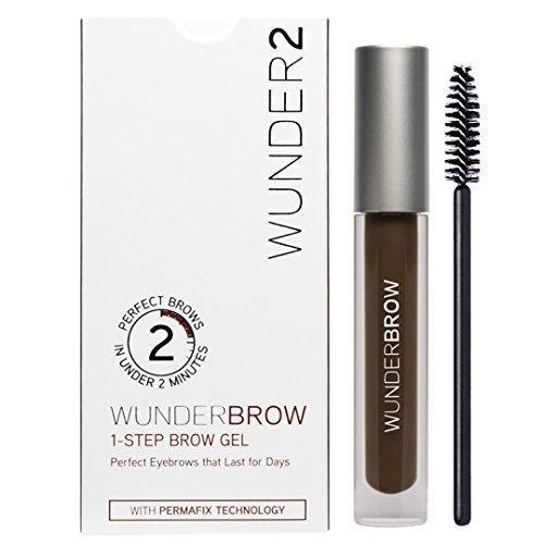 Wunder2 Wunderbrow Eyebrow Gel Perfect Eyebrows in 2 Mins - Black/Brown