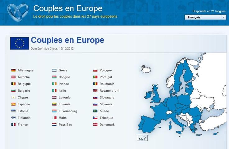 Droit des couples dans les 27 pays de l'Union européenne (UE): 9 questions/reponses pour les 27 pays dans la langue de votre choix