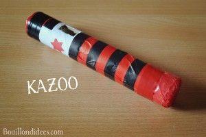 """DIY bricolage spécial """"Fête de la musique"""" : Kazoo"""