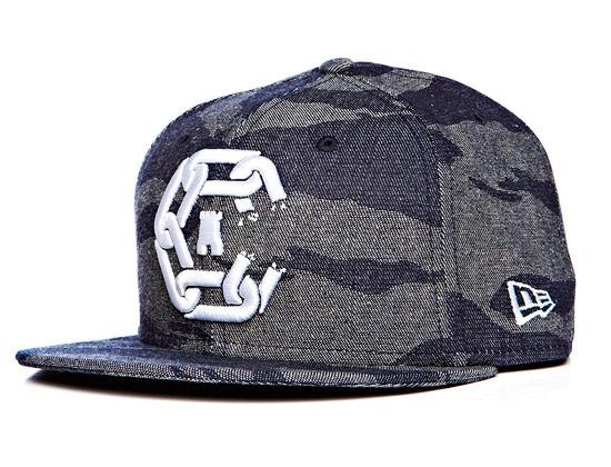CROOKS & CASTLES x NEW ERA 「Denim Tiger Camo Chain C Castle」59Fifty Fitted Cap