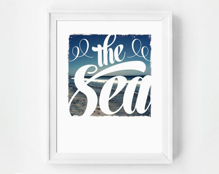 The Sea, beach art print.
