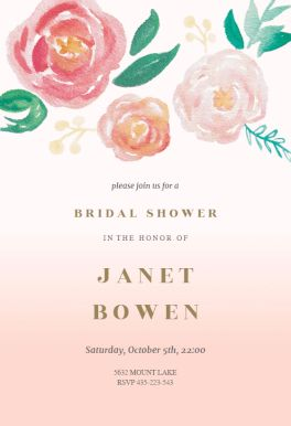50 best bridal shower invitation templates images on pinterest flowers on canvas printable invitation customize add text and photos print for free filmwisefo