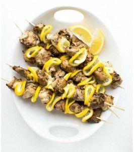 Куриные кебабы с лимоном