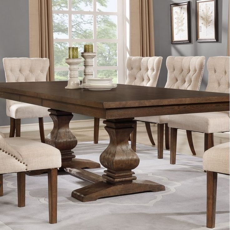 Best Quality Furniture Rectangular Walnut (Brown) Extension Dining Table
