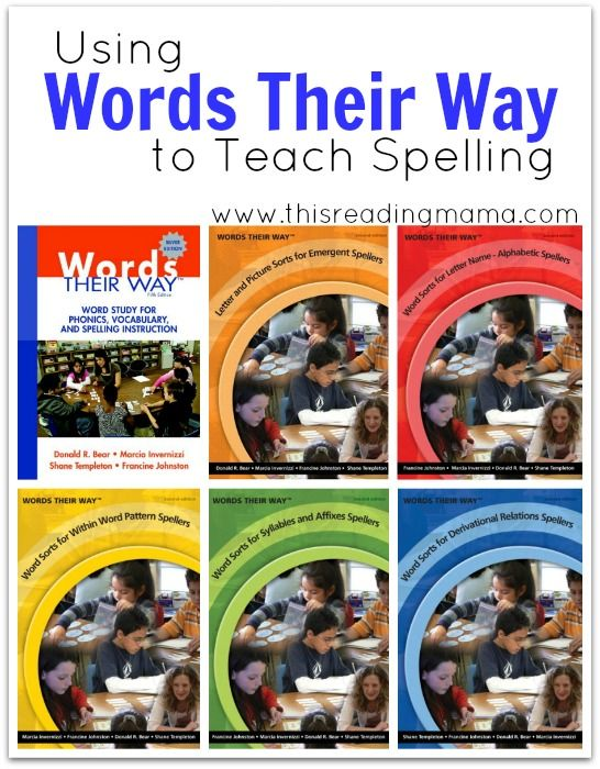 Using Words Their Way to Teach Spelling {a review of WTW's supplemental books} ~ Matching the books to your child's level of spelling development | This Reading Mama