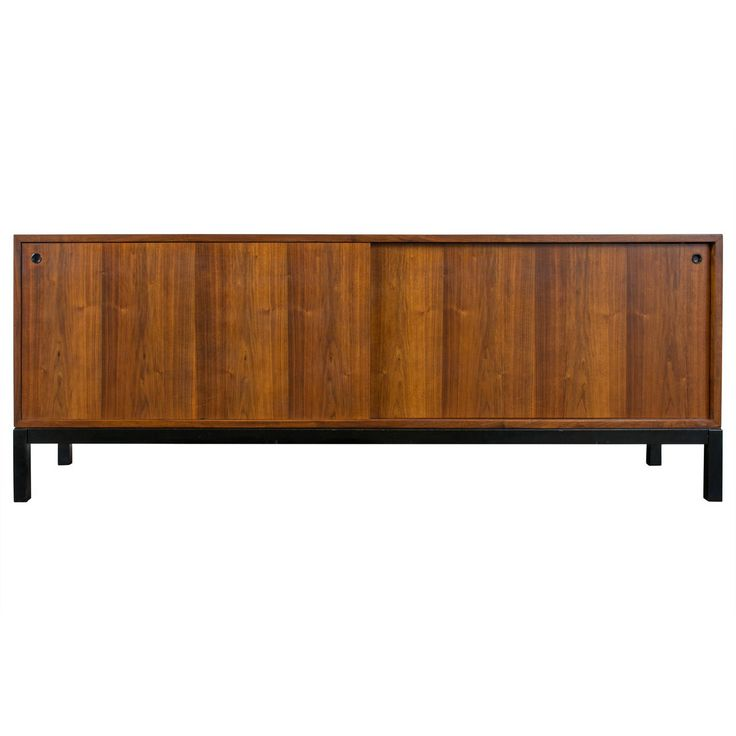 Vintage Mid-Century Walnut Credenza by Jacques Guillon | From a unique collection of antique and modern credenzas at https://www.1stdibs.com/furniture/storage-case-pieces/credenzas/