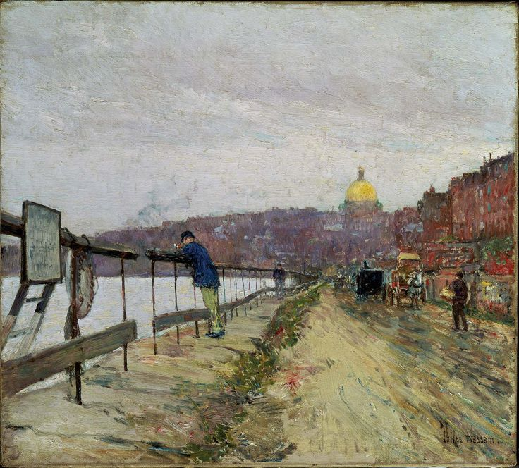 Charles River and Beacon Hill, ca 1892. Childe Hassam. Museum of Fine Arts, Boston