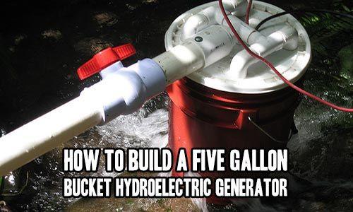 Cómo construir un cinco galones Cubo hidroeléctrica del generador