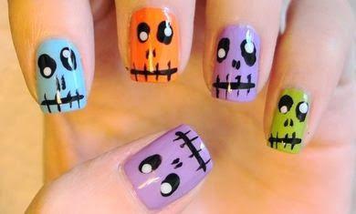 Ideas de diseños para uñas en halloween.DIY