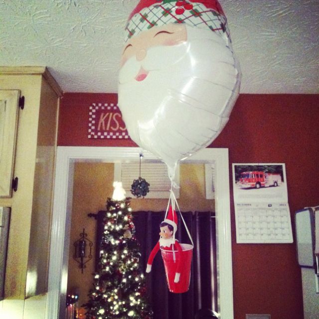 69 best images about elf on the shelf on pinterest elf for Elf on the shelf balloon ride