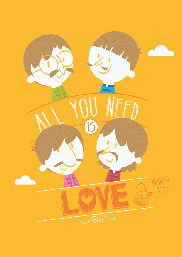 All You Need is Love by Ariel Fajtlowicz, via Behance