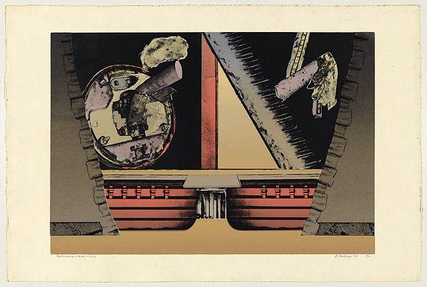 Jan SENBERGS | Performance, three pieces, 1975 | screenprint