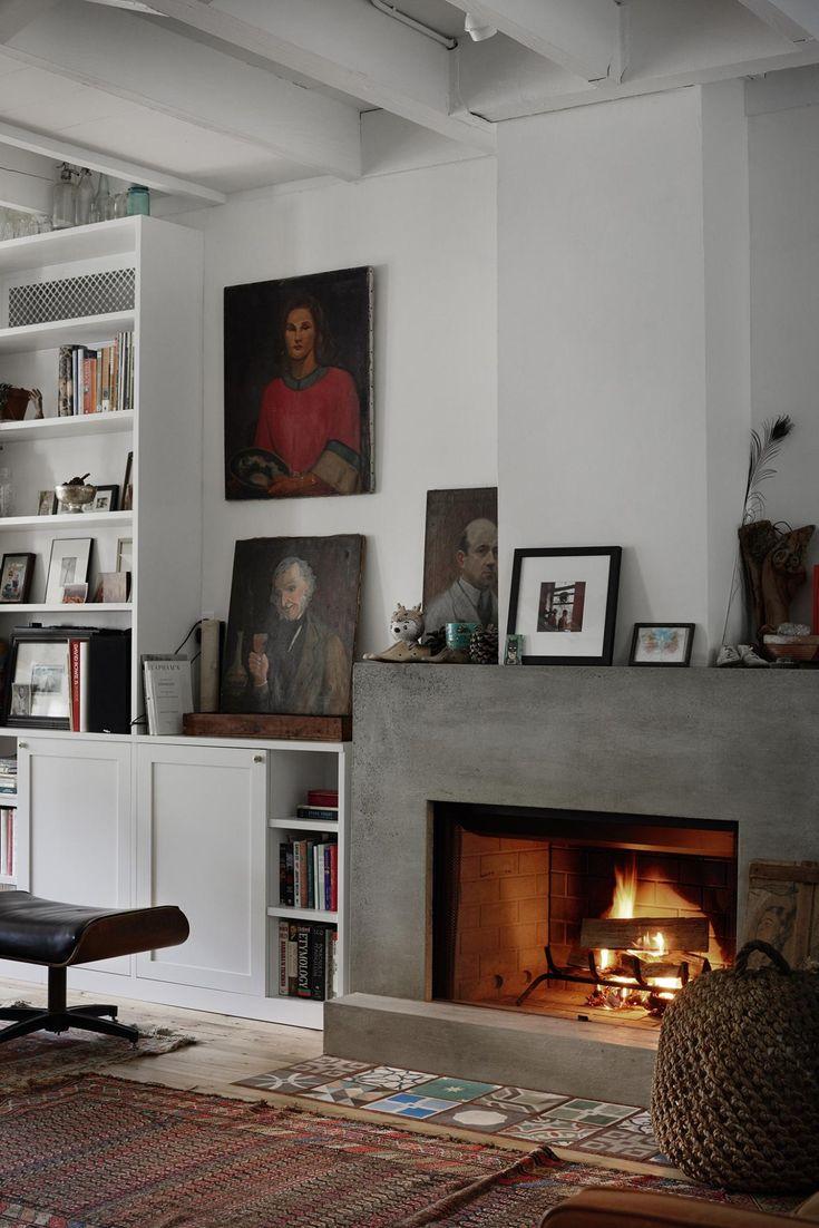 Best 25 Concrete Fireplace Ideas On Pinterest Modern