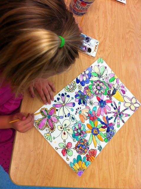 Apex Elementary Art: spring blooms