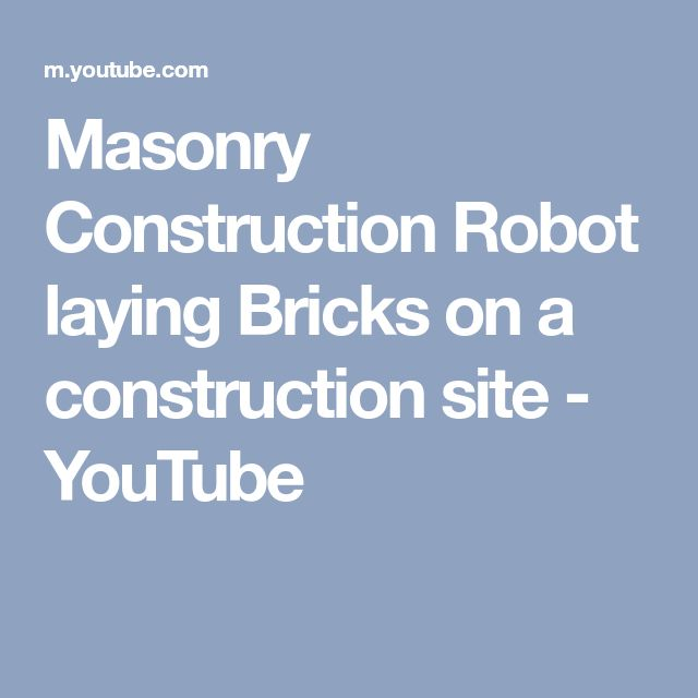 Masonry Construction Robot laying Bricks on a construction site - YouTube