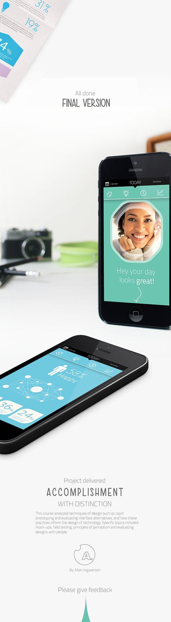 LifePuzzle - App concept on Behance