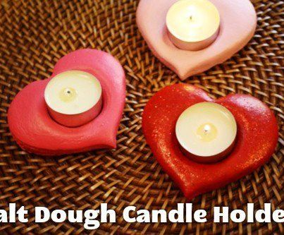 How to Make Heart-Shaped Tealight Candle Holders  http://lifeasmom.com/2013/02/diy-on-a-dime-salt-dough-candle-holders.html  Easy Project using Salt dough to make Tea Light Candles  Great Project for Adults and Kids