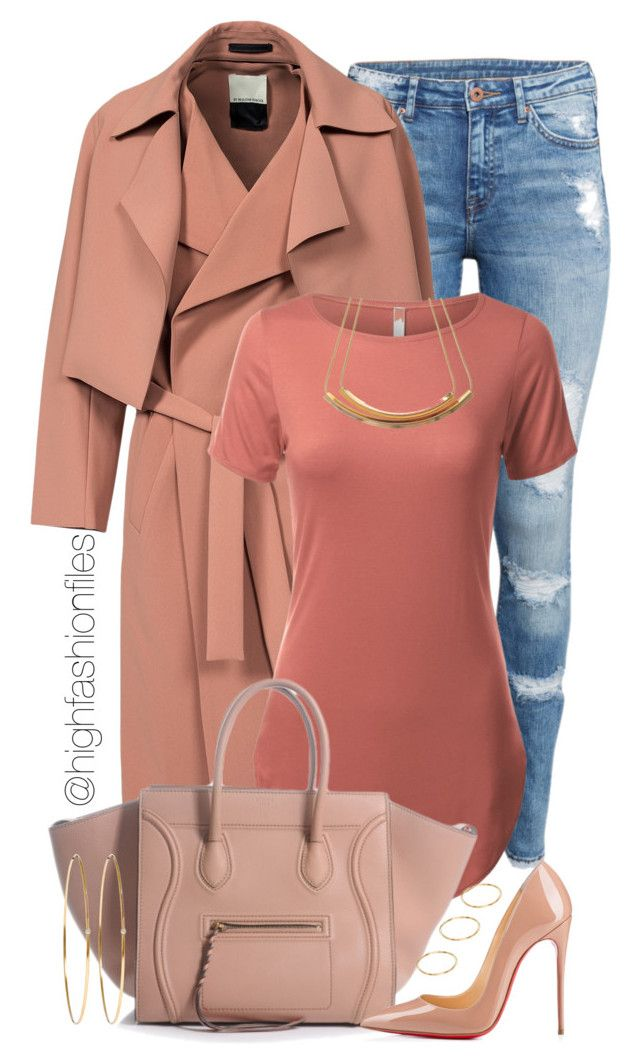 """""""Apricot"""" by highfashionfiles ❤ liked on Polyvore featuring H&M, By Malene Birger, Christian Louboutin, Jennifer Meyer Jewelry, ASOS, women's clothing, women's fashion, women, female and woman"""