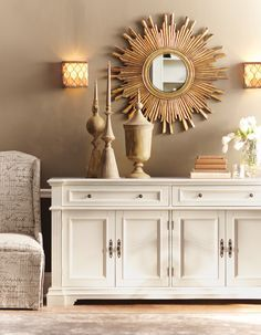 decorating top of buffet cabinet winter style - Google Search