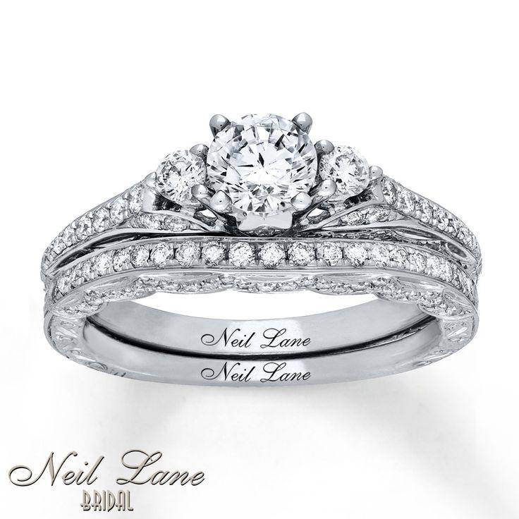 Popular Neil Lane Bridal Set Ct Tw Diamonds K White Gold Matching Wedding BandsWedding
