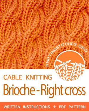 Cable And Brioche Knitting Howtoknit The Cable Brioche Right