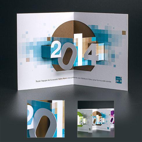 Cartes de voeux entreprise - Pixel