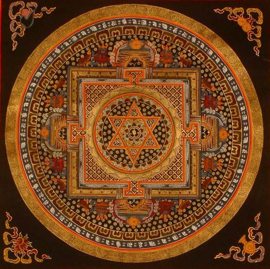 Mandala of Om, links to other Indian Mandalas