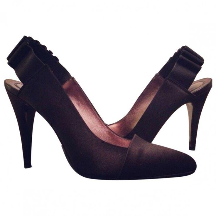 Scarpe da sera irresistibili black Plain Leather HUGO BOSS italian Heels - Vestiaire Collective