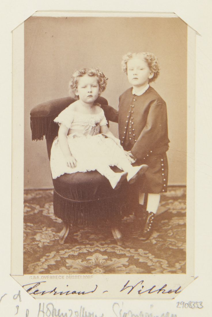 rince Ferdinand of Hohenzollern-Sigmaringen (1865-1927), later King Ferdinand I of Romania, and his brother Prince Wilhelm of Hohenzollern-Sigmaringen (1864-1927)