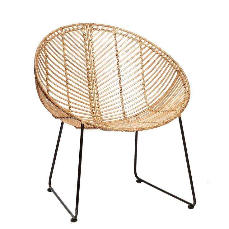 woonhome-rotan-vintage-rond-metaal-zwart-stoel-loungestoel-eetkamerstoel-hubsch-1