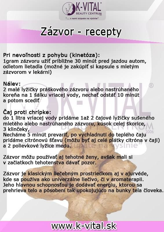 Zázvor-recepty