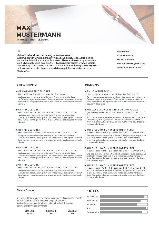 1000  ideas about Vorlage Lebenslauf Kostenlos on Pinterest  Lebenslaufentwurf, Seitenlayout
