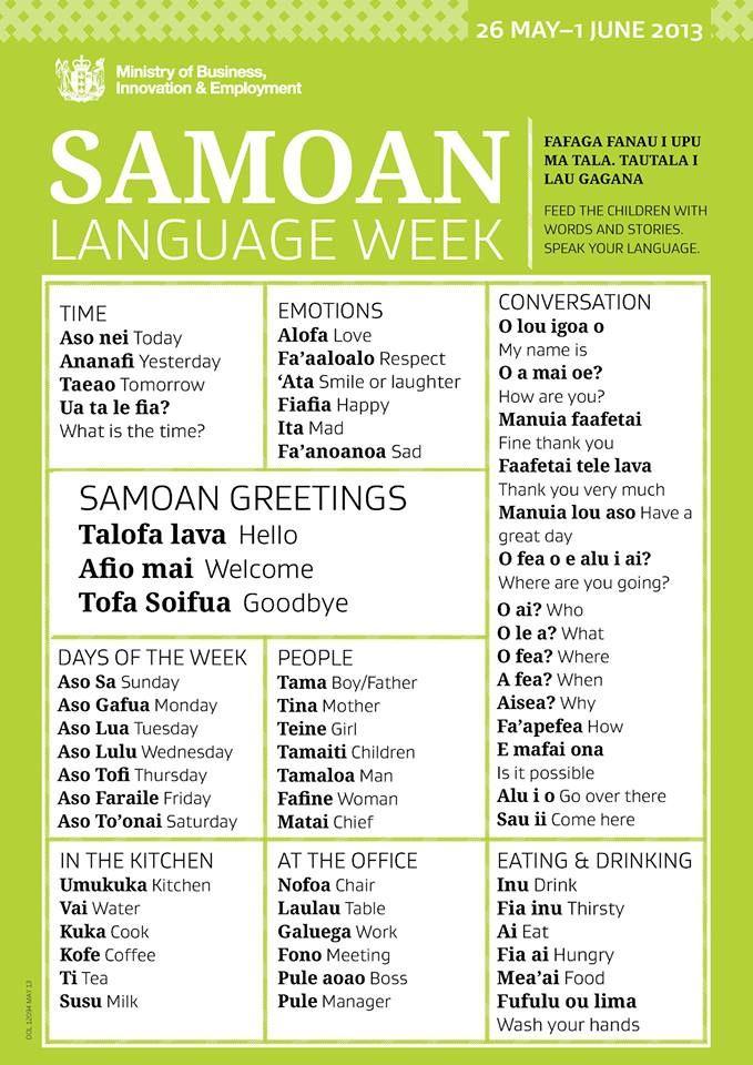 Samoan Language Week 2013