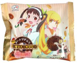 Shinobu Petit Donut Chocolate — All Package Design Set of 4  $9.50 http://thingsfromjapan.net/shinobu-petit-donut-chocolate-all-package-design-set-of-4/ #shinobu #Japanese donut #Japanese snack #anime