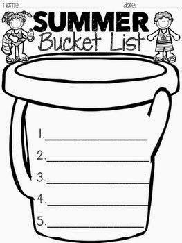 Summer Bucket List - Freebie