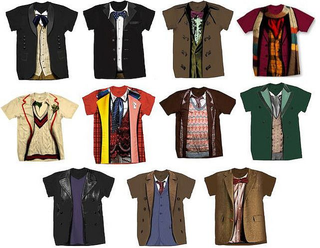 Doctor Who T-shirts. Want. Especially 10 and 11