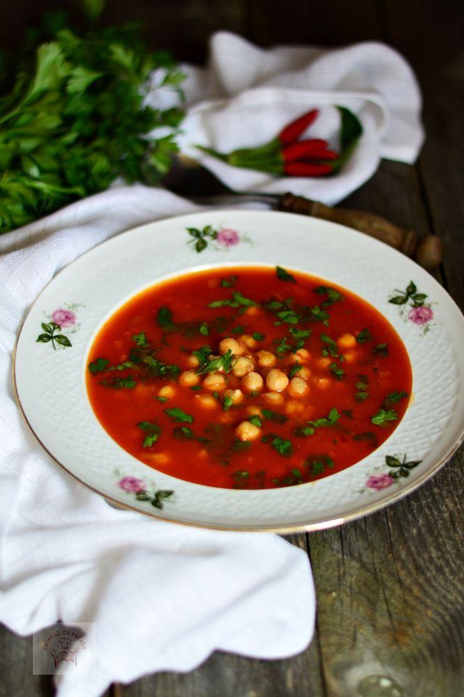 Supa picanta de rosii cu naut - CAIETUL CU RETETE