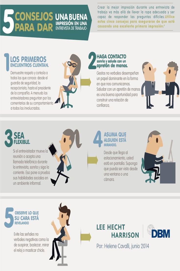 5 consejos para dar buena impresión en una entrevista de trabajo